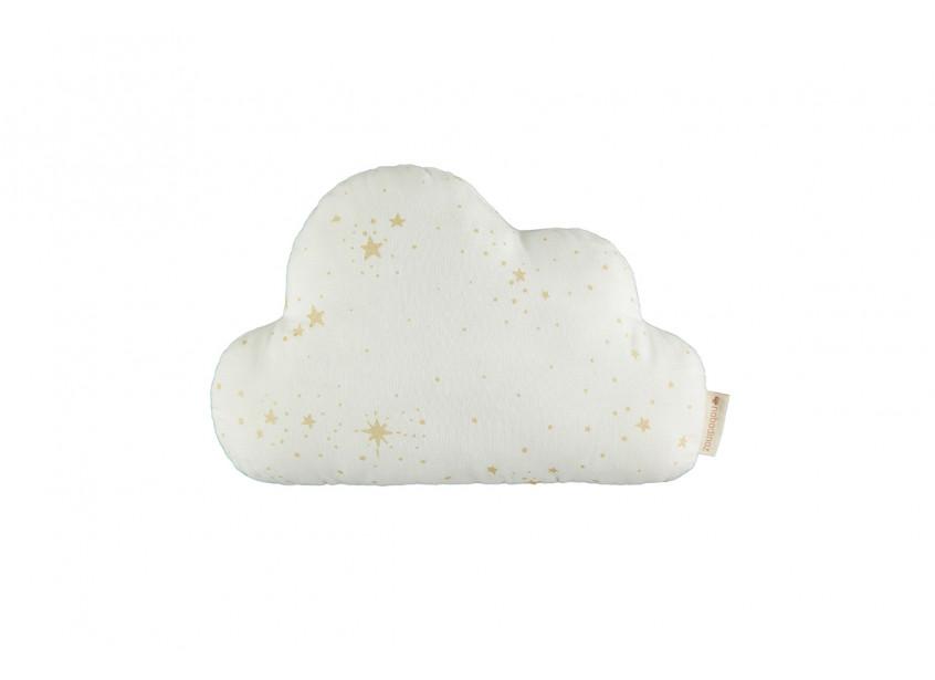 Cloud cushion gold stella white