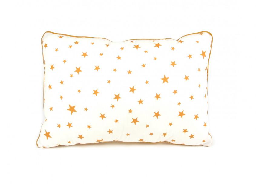 Cojin Jack 34x23 estrellas mostaza