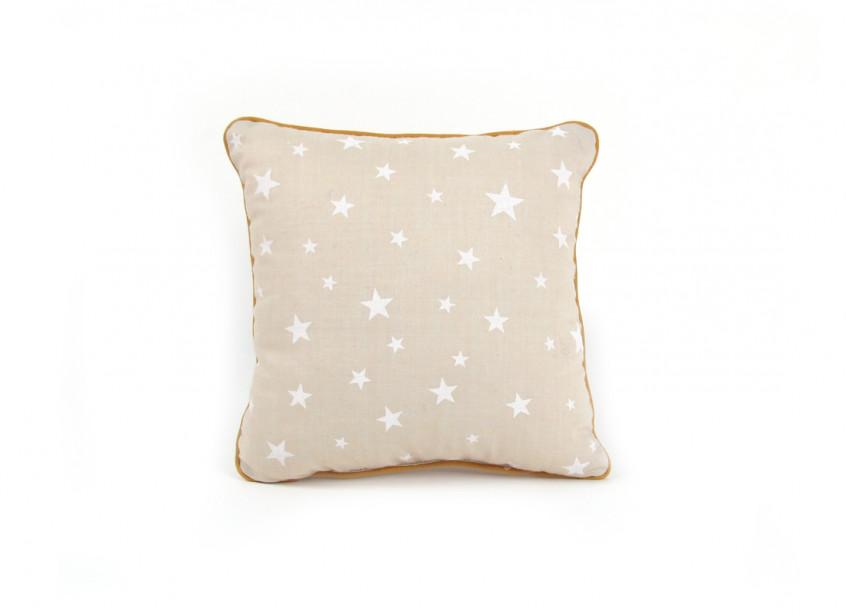 Cojin Joe 19x19 arena estrellas blancas