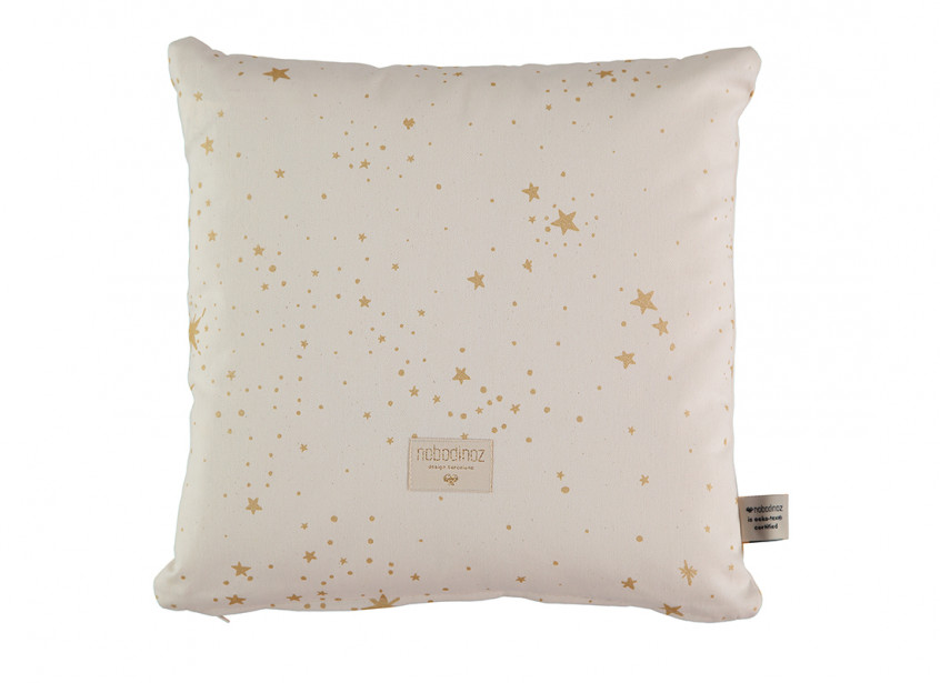 Cojin Descartes 38x38 gold stella/ natural