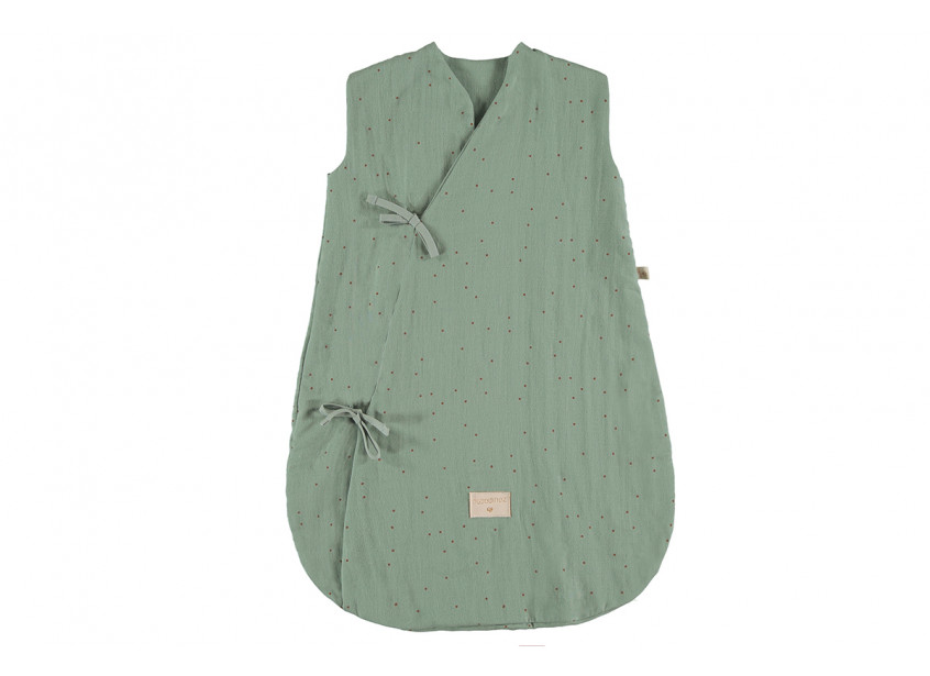 Saco de dormir de verano Dreamy toffee sweet dots eden green - 2 sizes