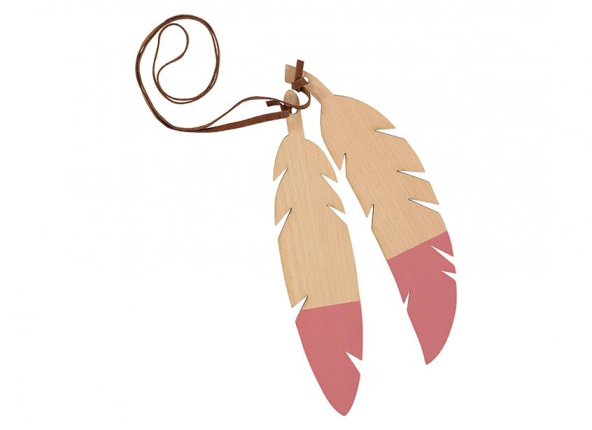 Guirnalda de plumas duo 85cm pink