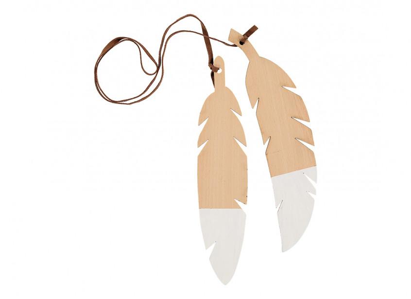 Guirnalda de plumas duo 85cm white