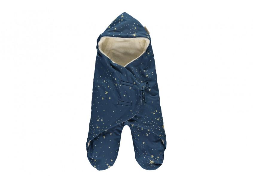 Kiss Me midseason baby wrap 0-6 M gold stella/ night blue