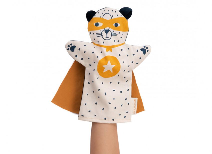 Leopard hand puppet