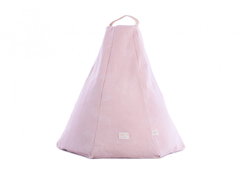 Puf Marrakech white bubble/ misty pink