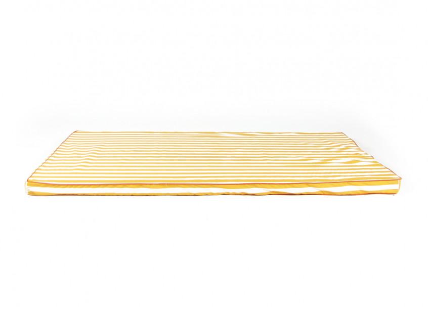 Colchoneta de suelo Saint Tropez 120x60x4 rayas miel