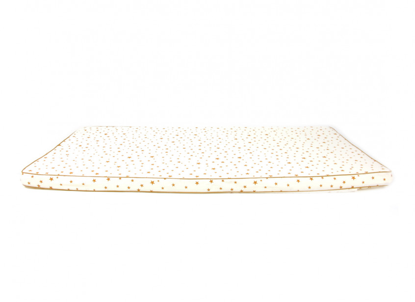 Colchoneta de suelo Saint Tropez 120x60x4 estrellas mostaza