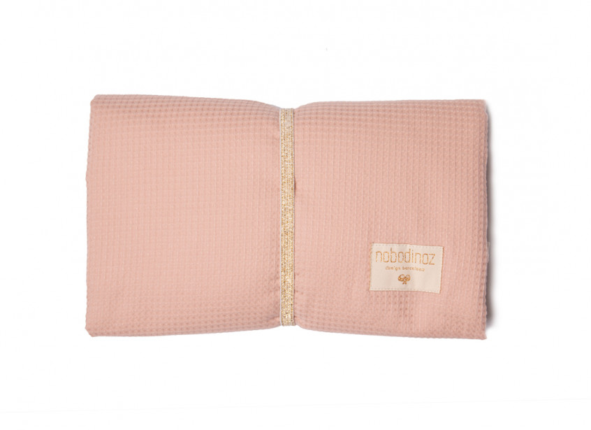 Cambiador de viaje impermeable Mozart 68x50 misty pink