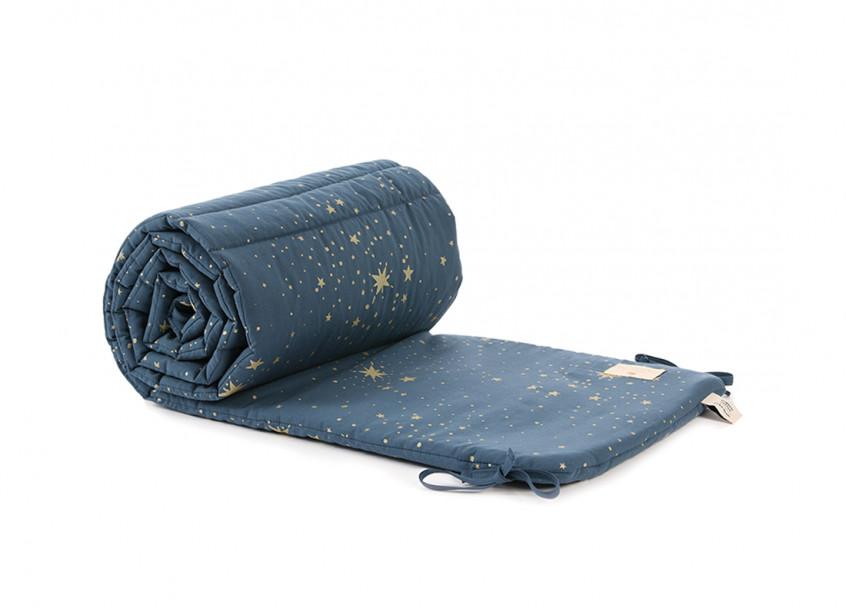 Protector de cuna Nest 207x32x2 gold stella/ night blue