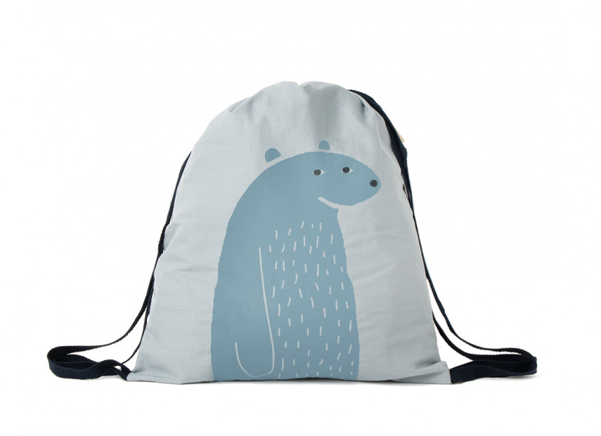 Mochila impermeable oso azul 40x34cm