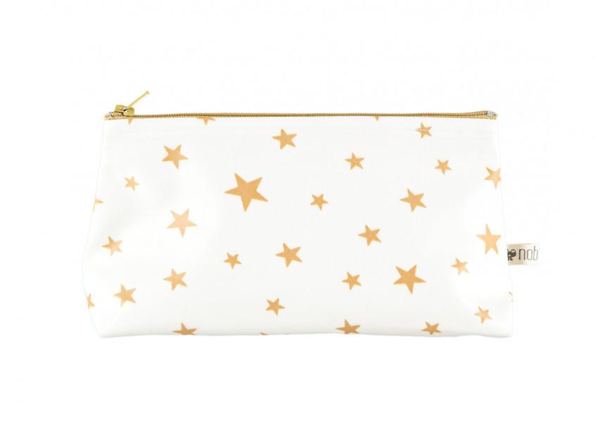 Estuche Capri 17x10x6 estrellas mostaza
