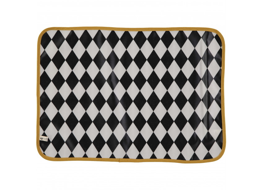 Place Mat Messina black diamonds