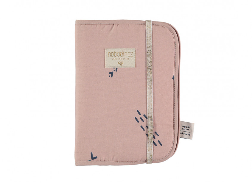 Funda carnet de salud Poema A5 24x18 blue secrets/ misty pink