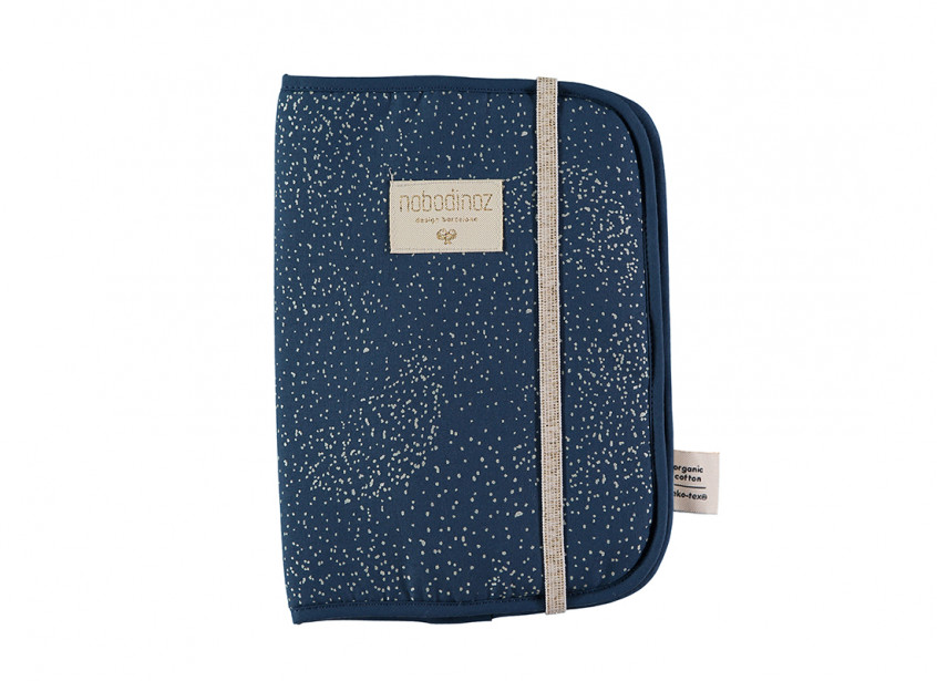 Funda libro de salud Poema A5 24x18 gold bubble/ night blue