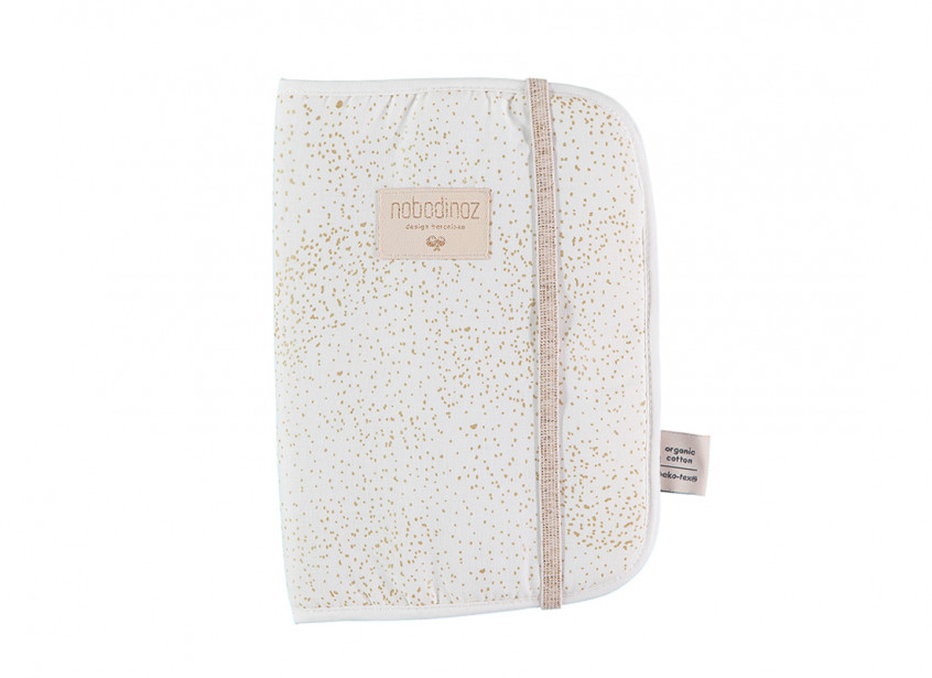 Funda libro de salud Poema A5 24x18 gold bubble/ white