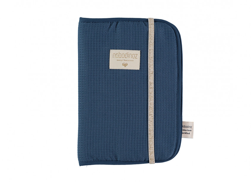 Funda carnet de salud Poema nido de abeja A5 24x18 night blue
