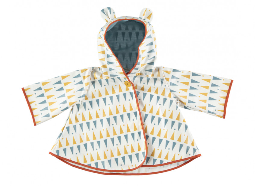 Chubasquero Venezia triángulos azul miel