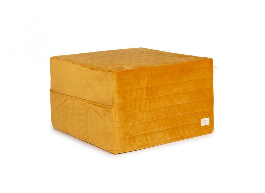 Puf cama plegable Sleepover • velvet farniente yellow