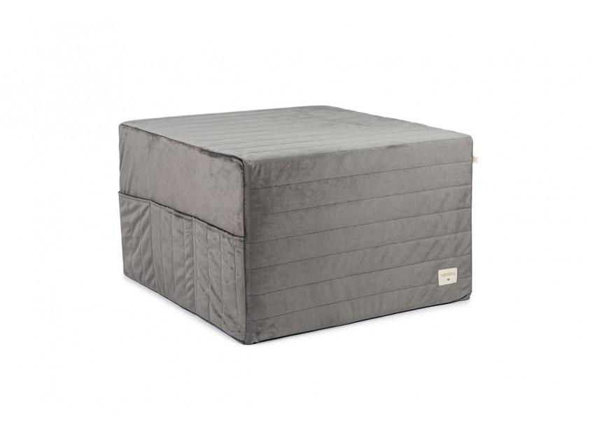 Puf cama plegable Sleepover • velvet slate grey