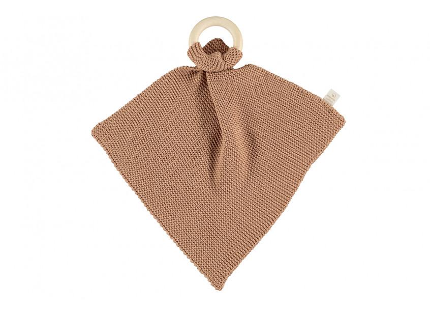 Anillo de dentición de tricot So Natural • biscuit