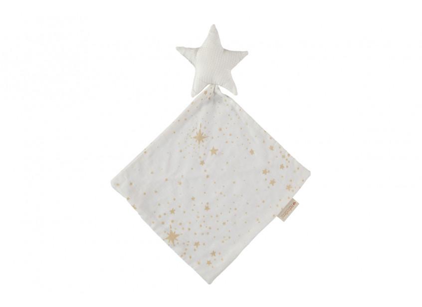 Doudou Star 30x30 gold stella/ white