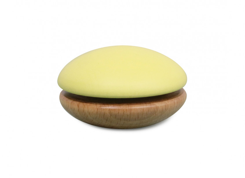 Yoyo de madera 6x6x4cm amarillo