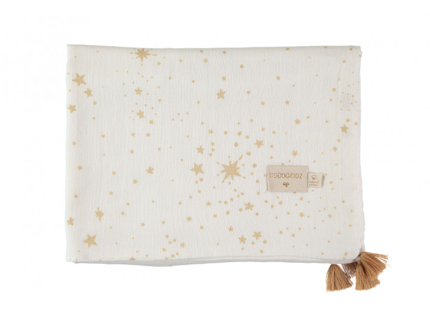 Manta de verano Treasure 70x100 gold stella/ white