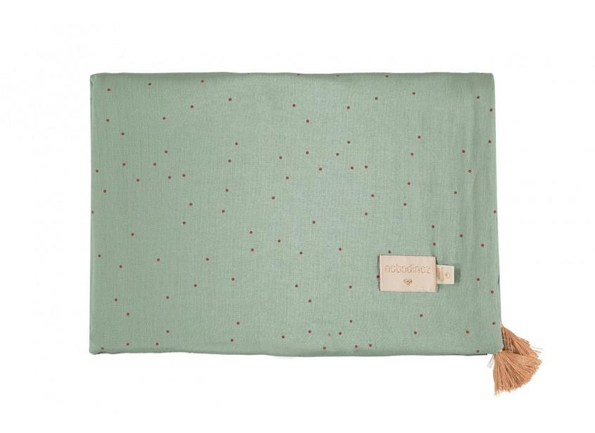 Manta de verano Treasure 70x100 toffee sweet dots eden green