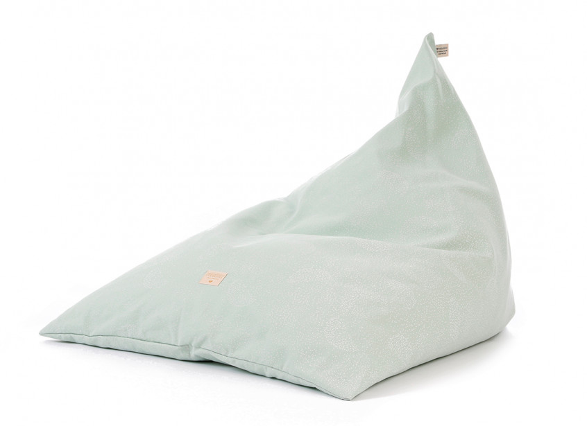 Puf Zen 62x95x75 white bubble/ aqua