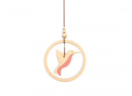 Móvil colibrí 19x13 pink