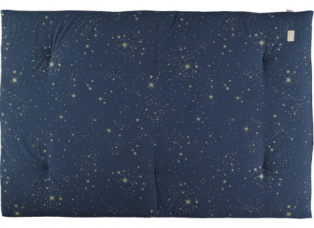 Futon Eden 148x100x6 gold stella/ night blue