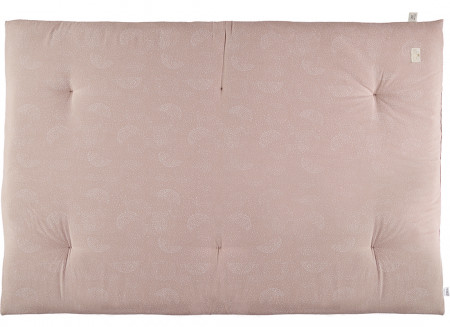 Futon Eden 148x100x6 white bubble/ misty pink