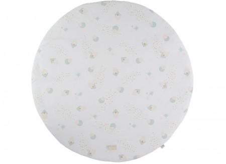 Alfombra de juego redonda Full Moon small 105x105 aqua eclipse/ white
