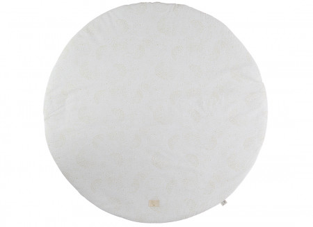 Alfombra de juego redonda Full Moon small 105x105 gold bubble/ white