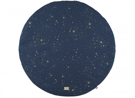 Alfombra de juego redonda Full Moon small 105x105 gold stella/ night blue