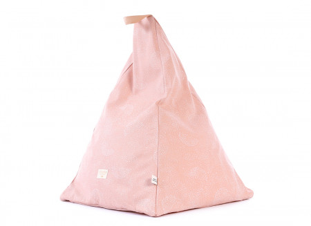 Puf Keops 65x50x50 white bubble/ misty pink