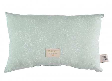 Cojin Laurel 22x35 white bubble/ aqua