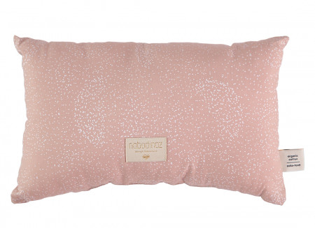 Cojin Laurel 22x35 white bubble/ misty pink