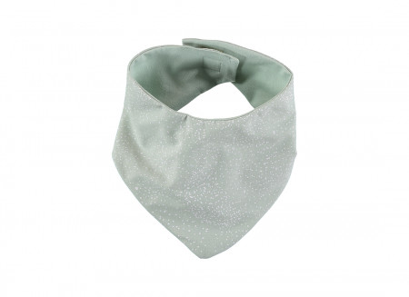 Babero bandana Lucky 16x43 white bubble/ aqua