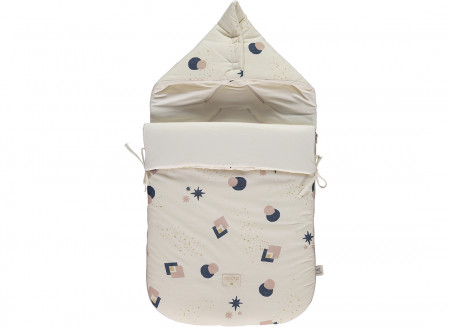 Saco de paseo Passegiata 90x46x6 night blue eclipse/ natural