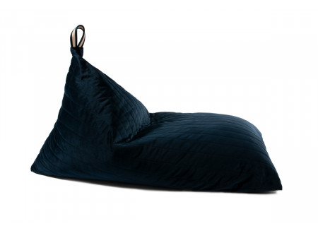 Essaouira velvet beanbag night blue