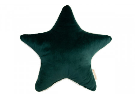 Aristote star velvet cushion jungle green