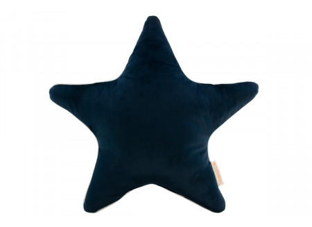 Aristote star velvet cushion night blue