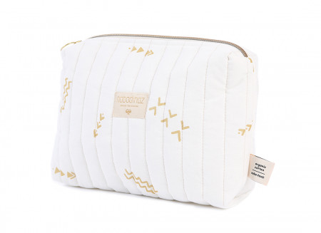 Neceser Travel 18x25x7 gold secrets/ white