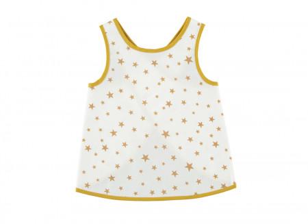 Delantal Calabria estrellas mostaza