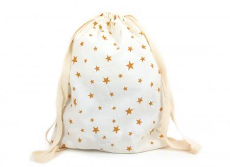 Mochila Florencia 25x34 estrellas mostaza