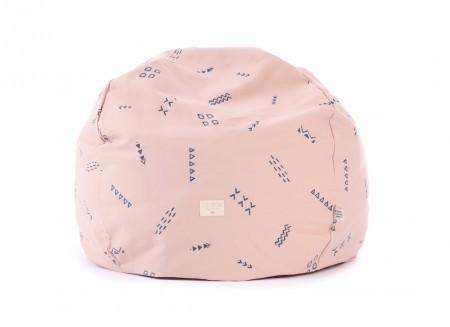 Puf Balloon 44x60x60 blue secrets/ misty pink