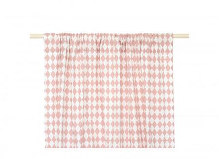 Cortina Biarritz 140x280 rombos rosas