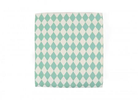 Manta Copenhague rombos verdes - 2 tallas